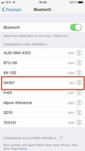 Dodocool DA167 iPhone iOS 12 liaison BT 4.0
