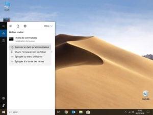 changer le mot de passe de windows 10 cmd.exe