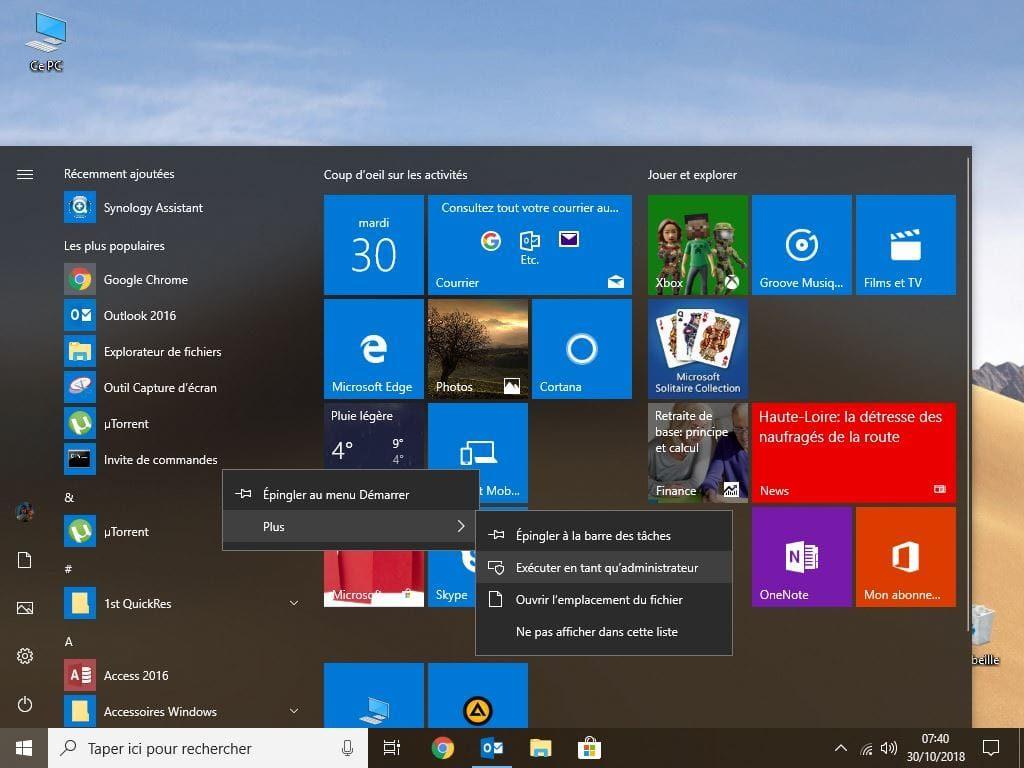 changer le mot de passe de windows 10 invite de commandes