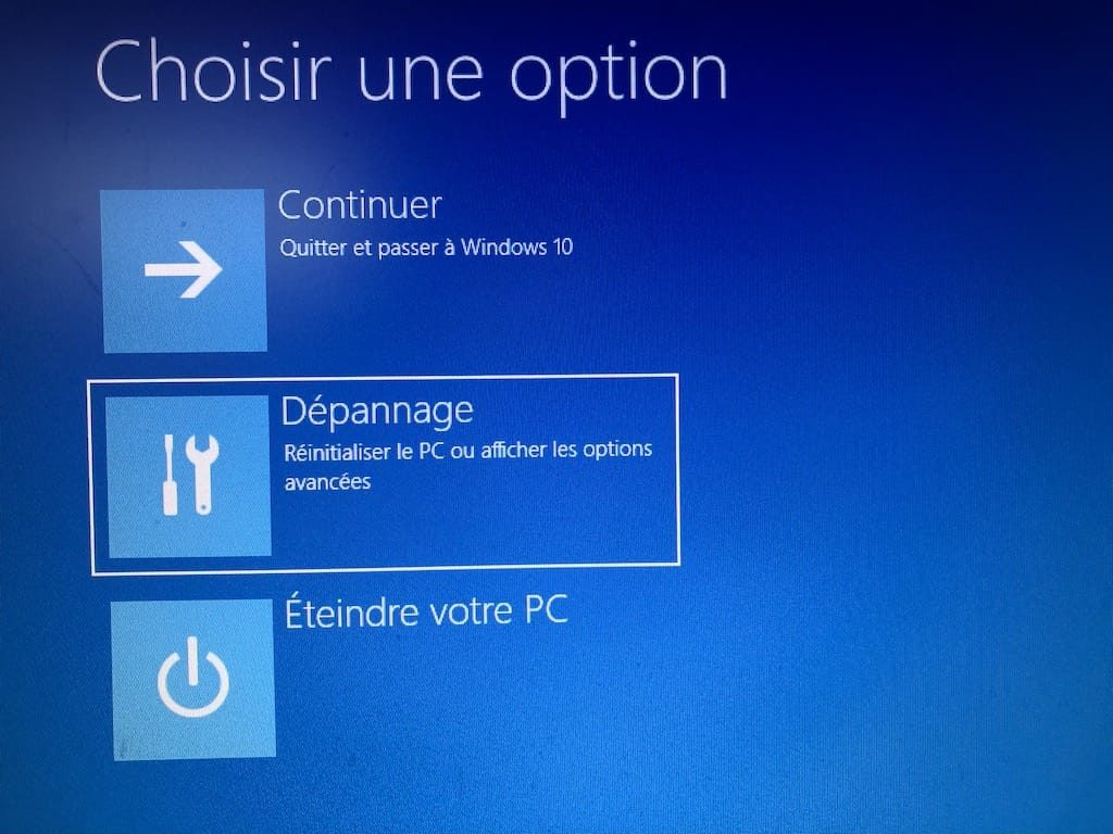 Installation propre windows 10 Depannage