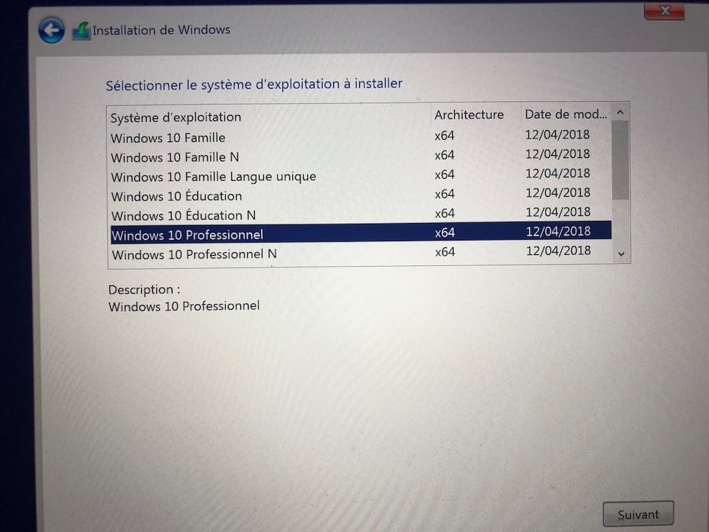 installer windows 10 pro