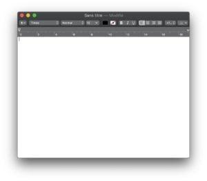 Activer le Dark Mode de TextEdit pour un fond noir pas blanc