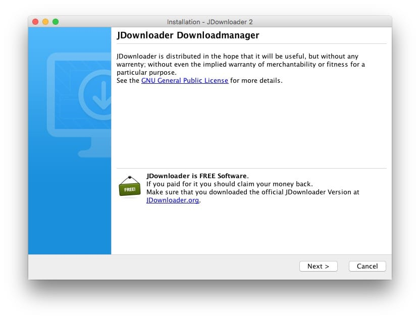 Installer JDownloader sur Mac download manager