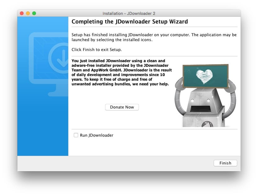 JDownloader mac installation