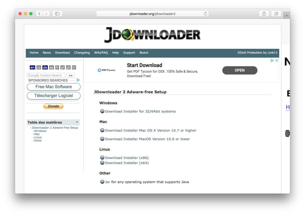 installer jdownloader 2 sur mac
