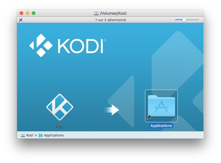 installer kodi sur mac os dossier applications