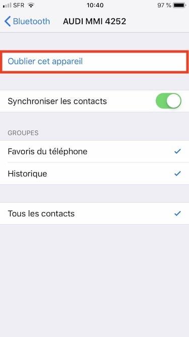 supprimer jumelage casque iphone