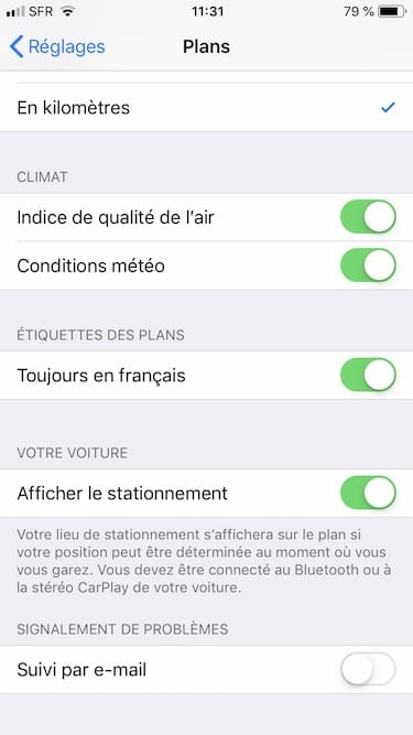 Plans indice de qualite de l air ios afficher