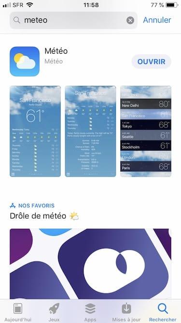 app meteo iphone indice qualite de lair