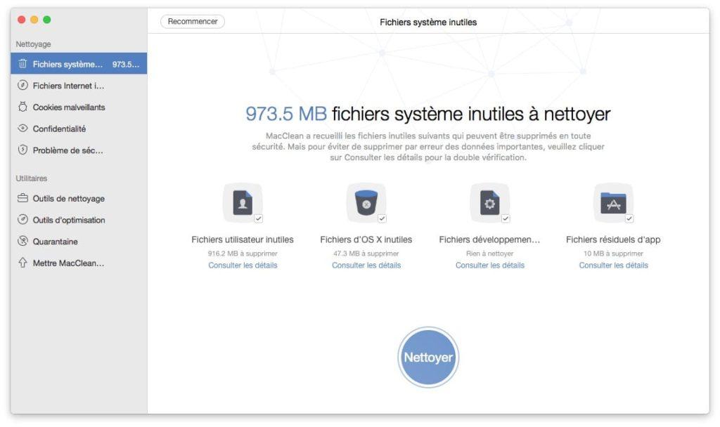 libérer de l'espace sur son Mac mac fichiers systeme inutiles a nettoyer