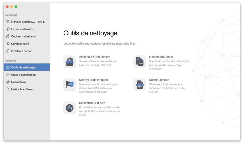 libérer de l'espace sur son Mac outils de nettoyage pour mac et macos