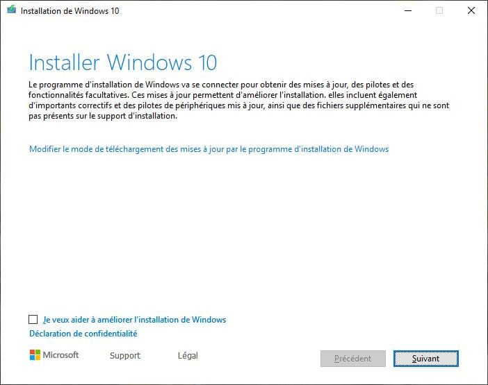 Installer Windows 10 May 2019 update