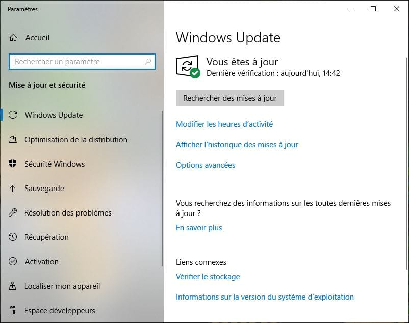 Télécharger Windows 10 Mai 2019 Windows Update