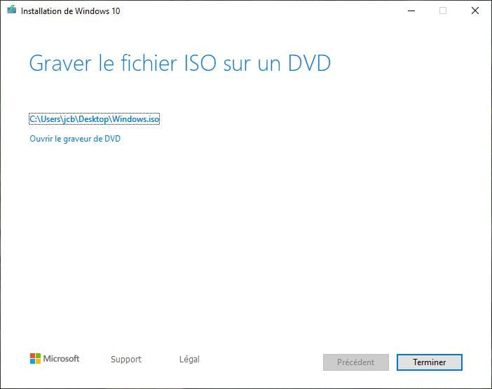 ouvrir ISO Windows 10 mai 2019