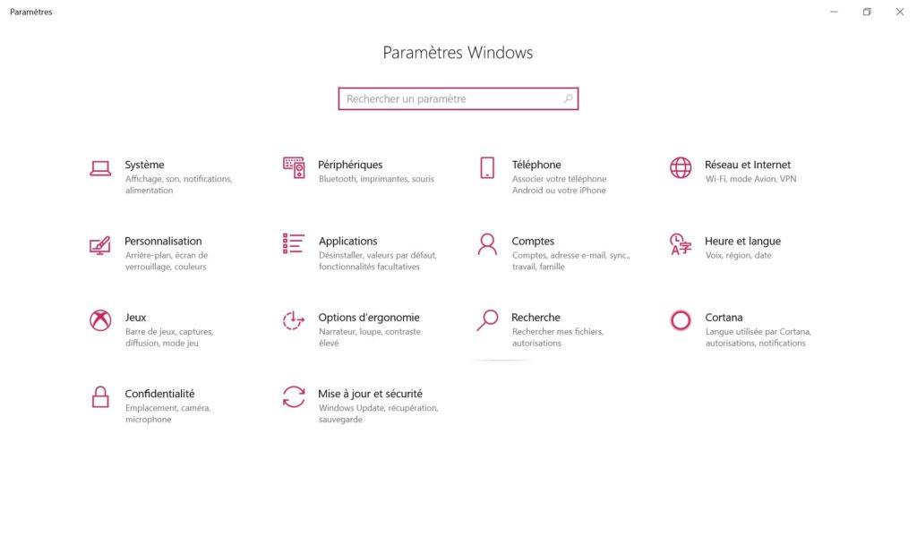 heure et langue windows 10