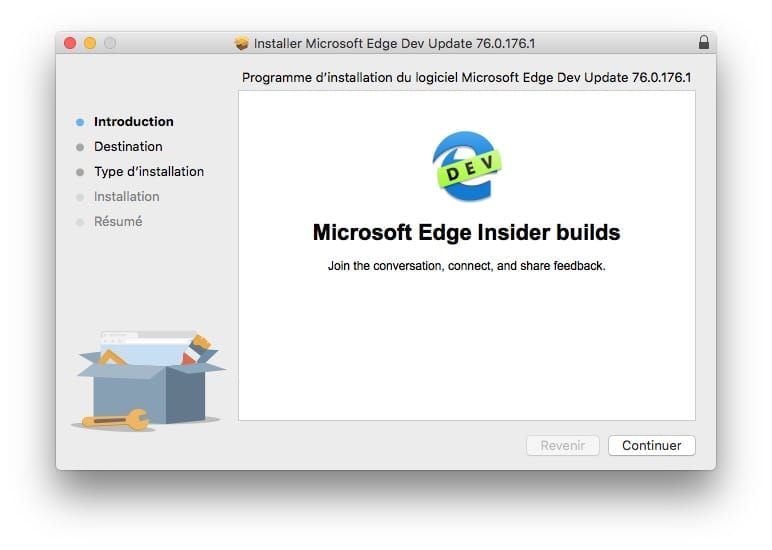 installation microsoft edge mac