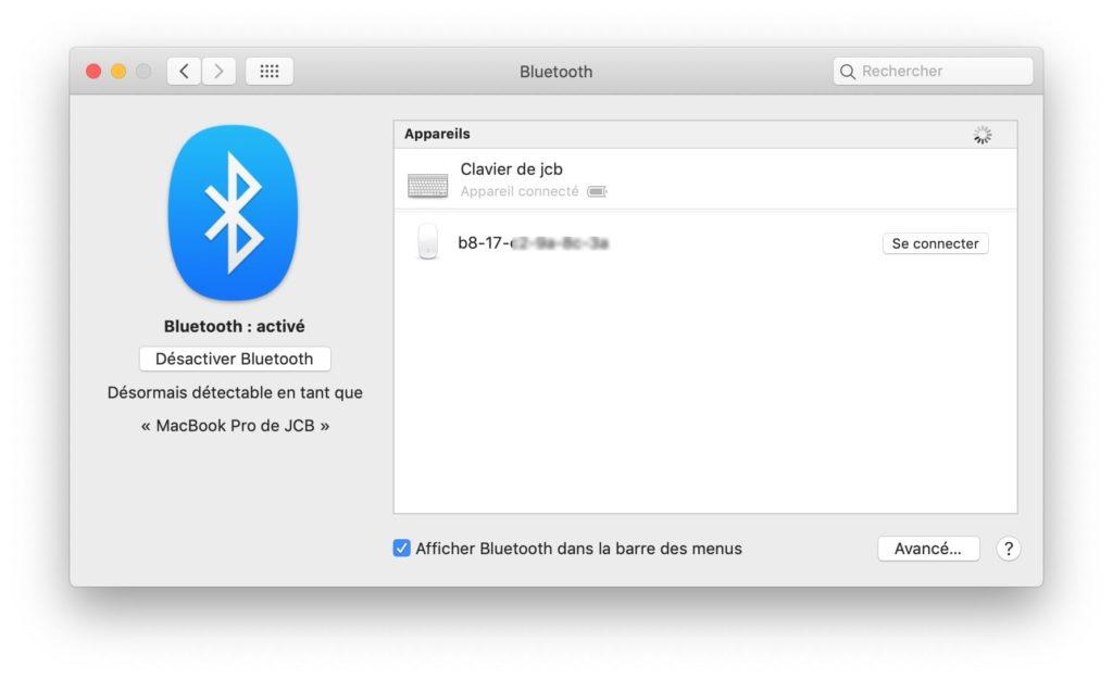 connecter souris bluetooth au mac
