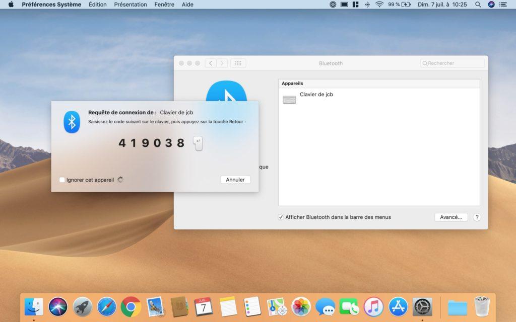 jumeler clavier Bluetooth macbook