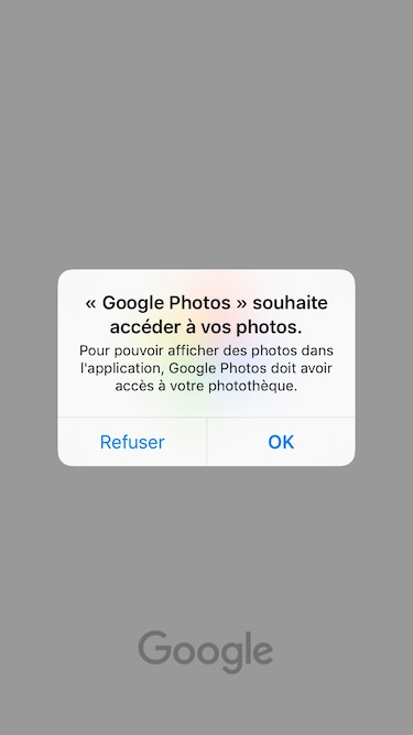 Google photo acces phototheque
