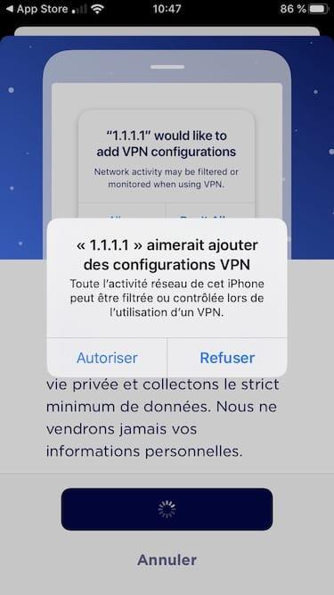 configurer VPN Cloudflare WArp
