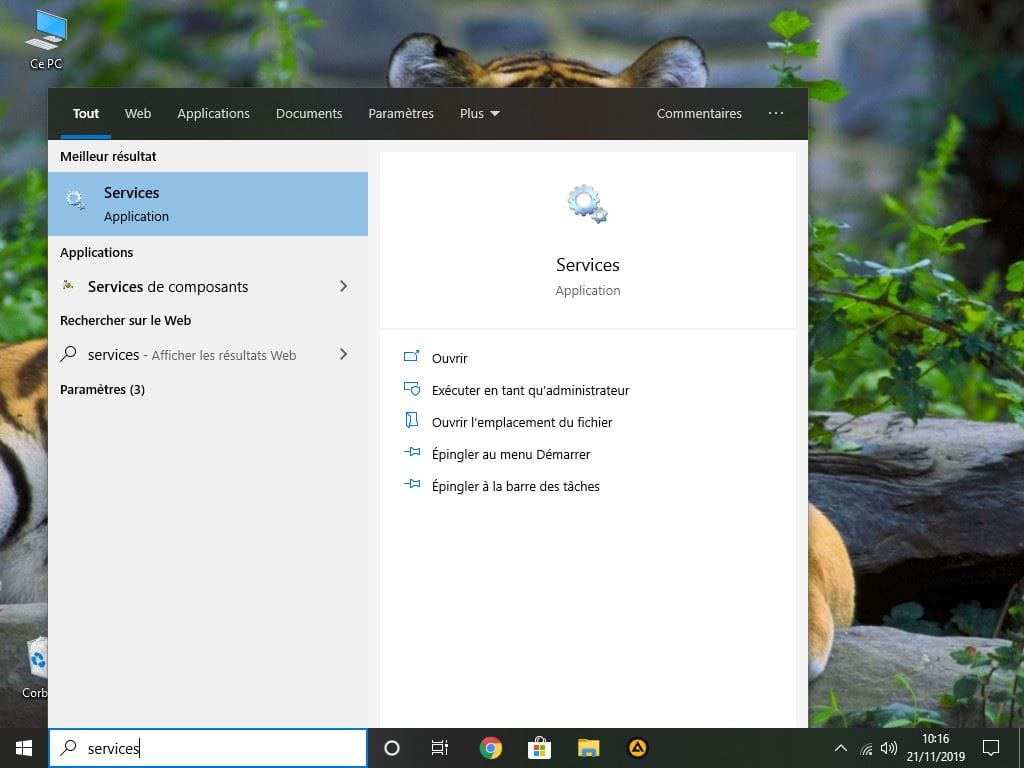 desactiver service automatique windows 10