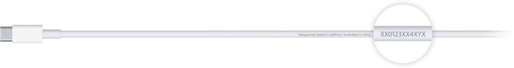 identifier cable chargeur USB-C MacBook