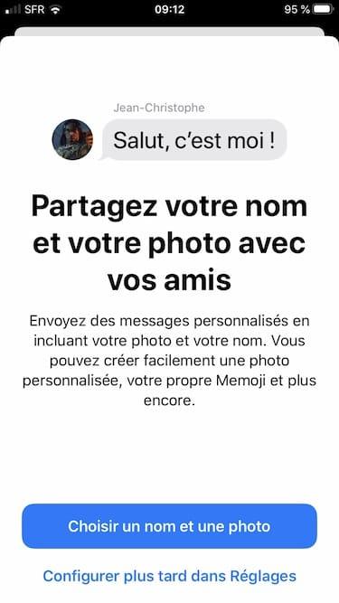 choisir une photo pour Messages partagez votre nom et votre photo avec vos amis