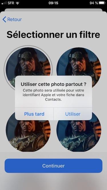 photo identifiant Apple Contacts et Messages