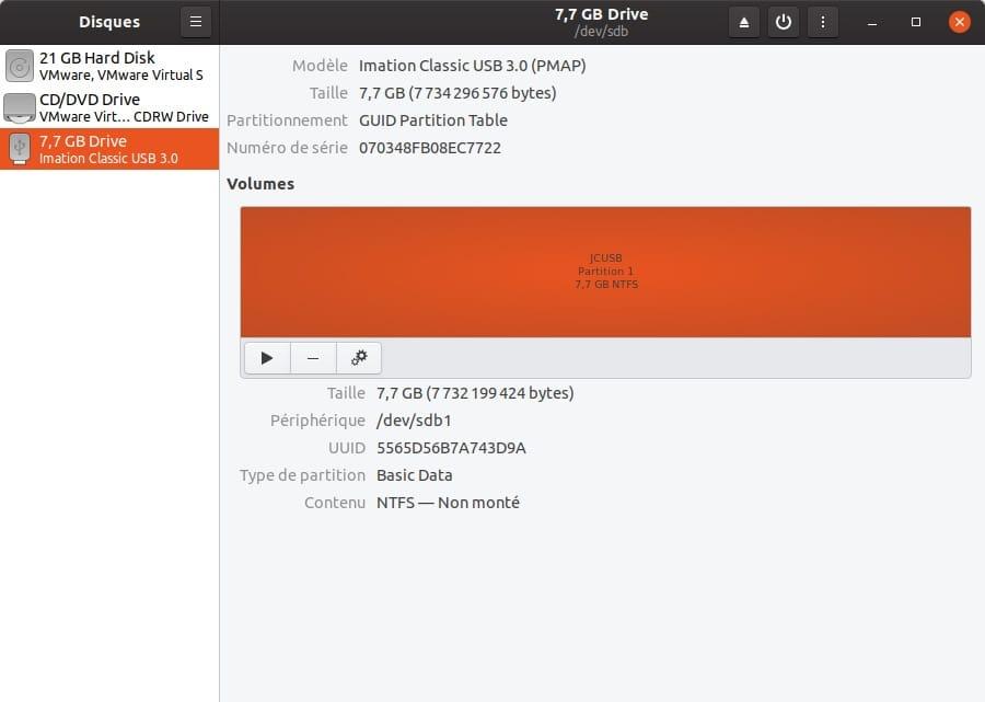 formater en ntfs sur ubuntu