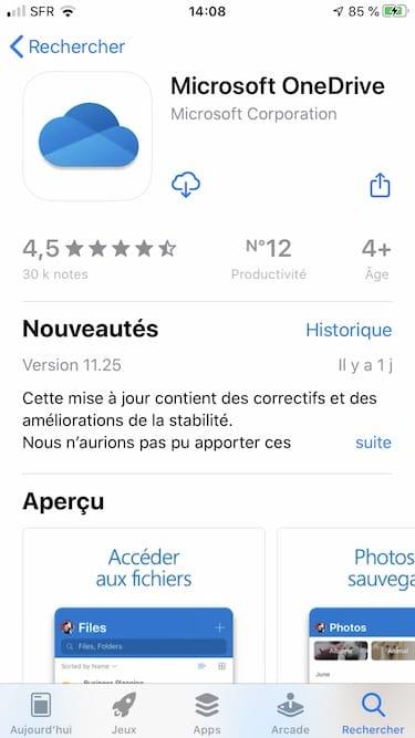 Ajouter un service de stockage externe dans l app Fichiers sur iPhone Microsoft OneDrive