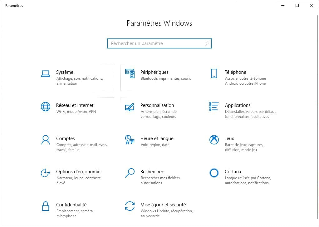 comptes windows 10