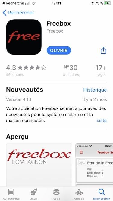 regarder les videos de sa freebox sur son iphone avec Free