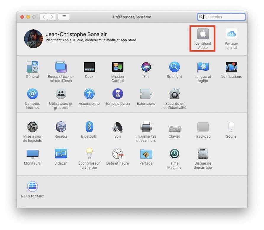 desactiver icloud drive mac Identifiant Apple