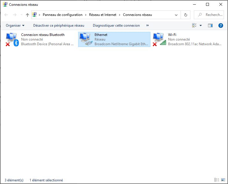 changer DNS windows 10