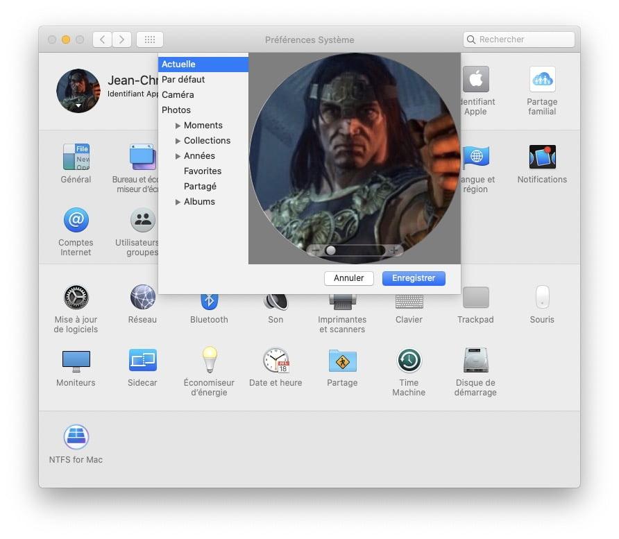 choisir photo identifiant apple mac