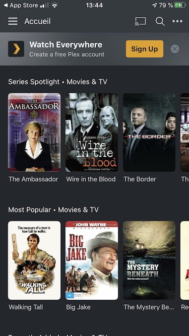 plex iphone films gratuits
