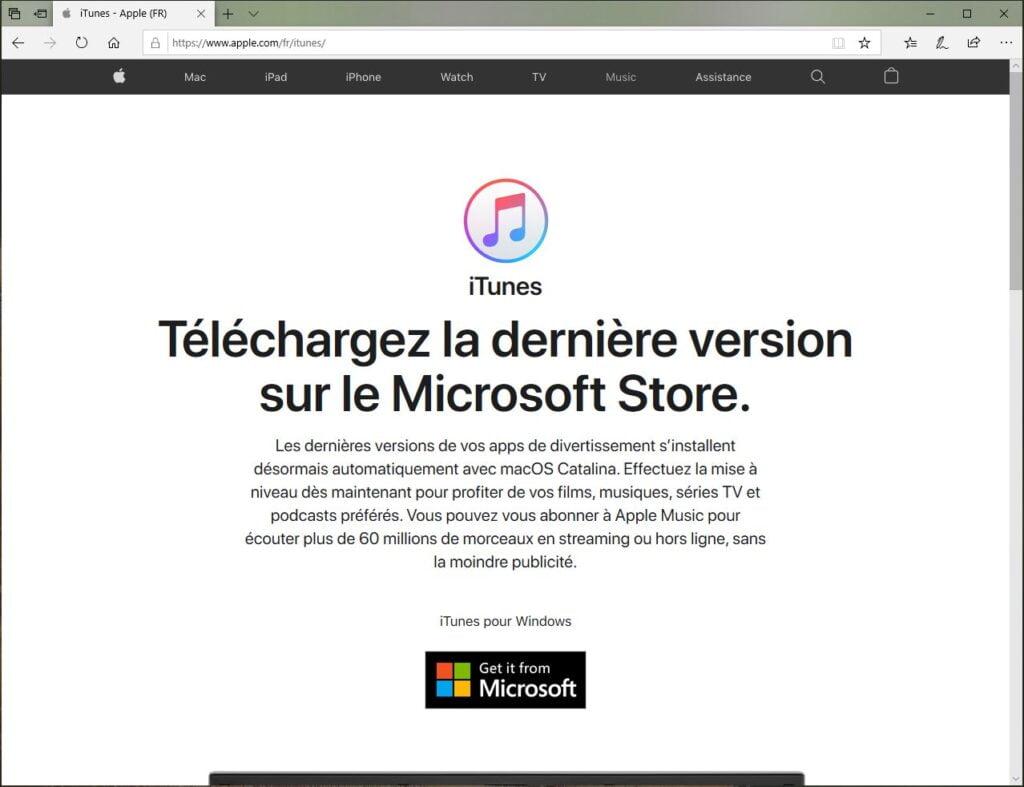 Sauvegarder son iPhone sur Windows 10 telecharger iTunes