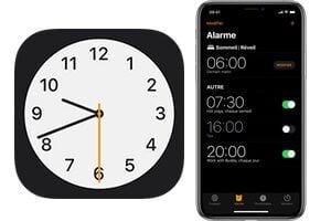 Programmer une alarme sur iPhone avec vibration (8 séquences au choix)