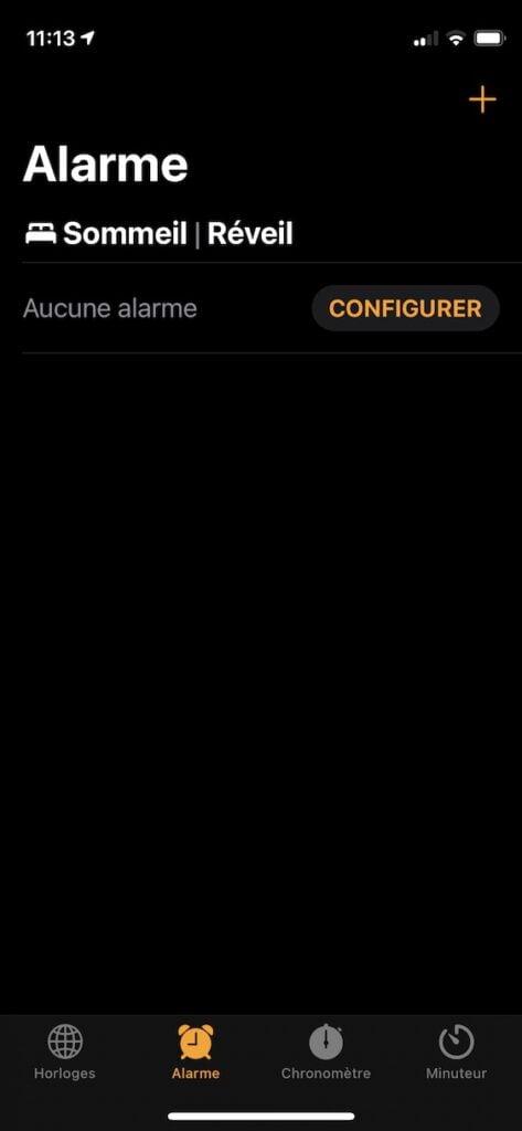 Programmer une alarme sur iPhone avec vibration Horloge