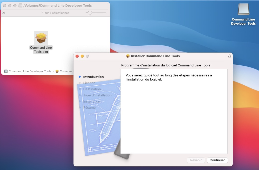 Installation Command Line Tools macOS Big Sur
