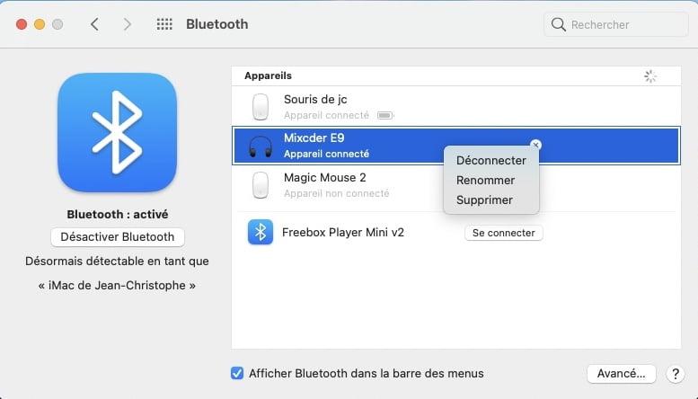 renommer airpod sur iphone ou mac