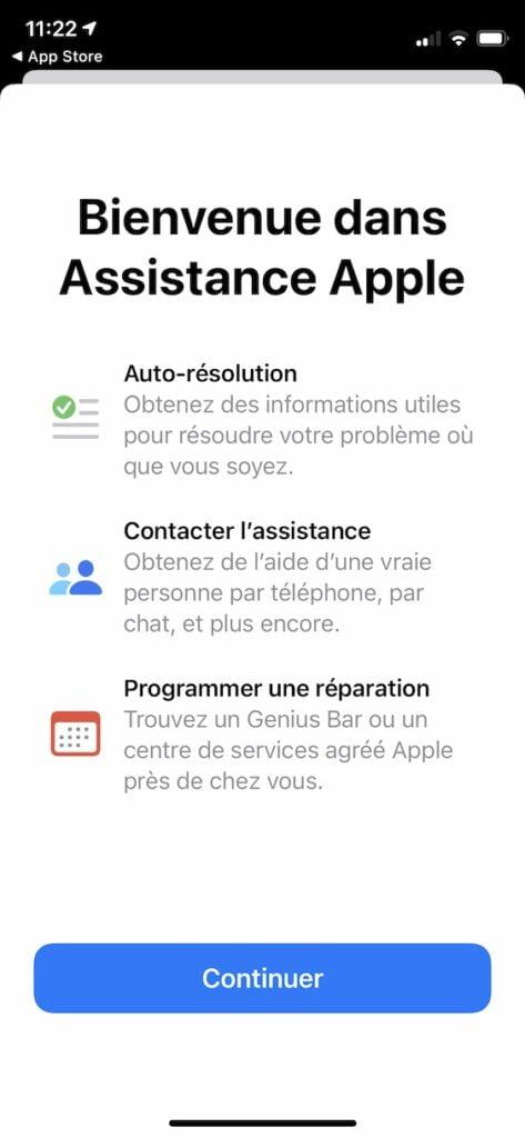 assistance apple app iphone