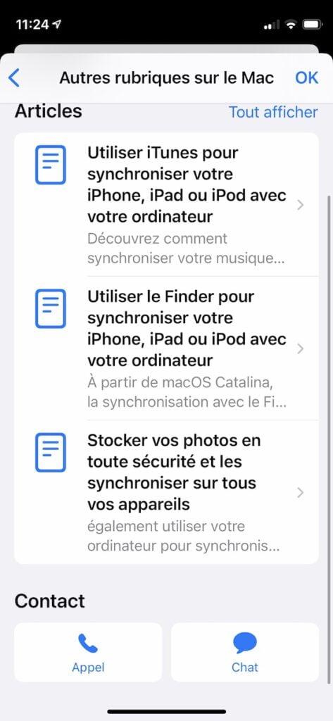 chat assistance Apple