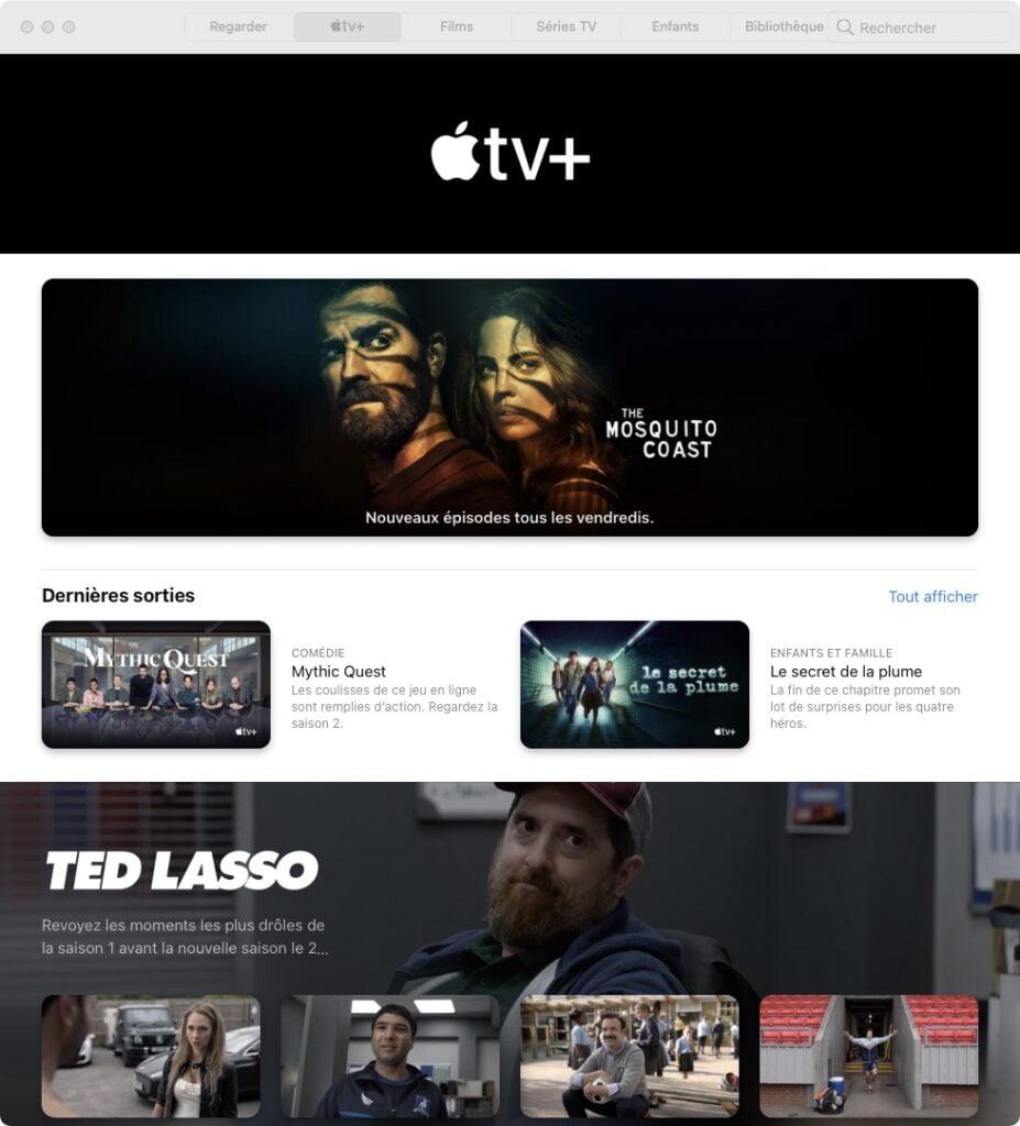 voir contenu apple tv