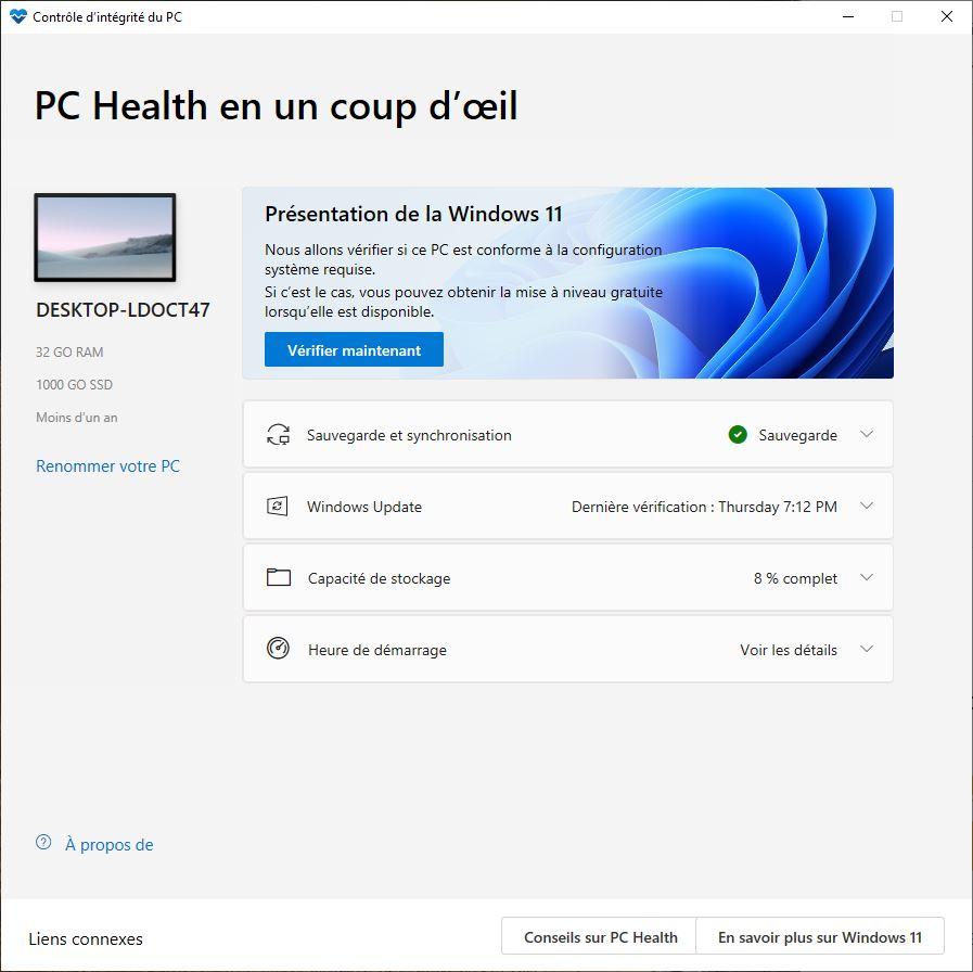 Windows 11 PC Health