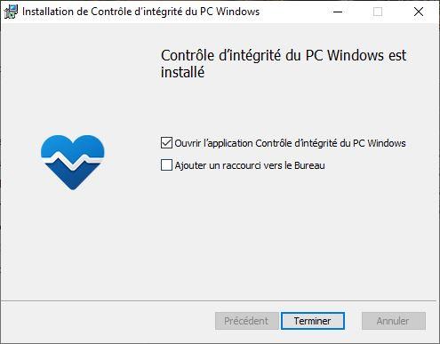 Windows 11 app Controle d integrite du PC