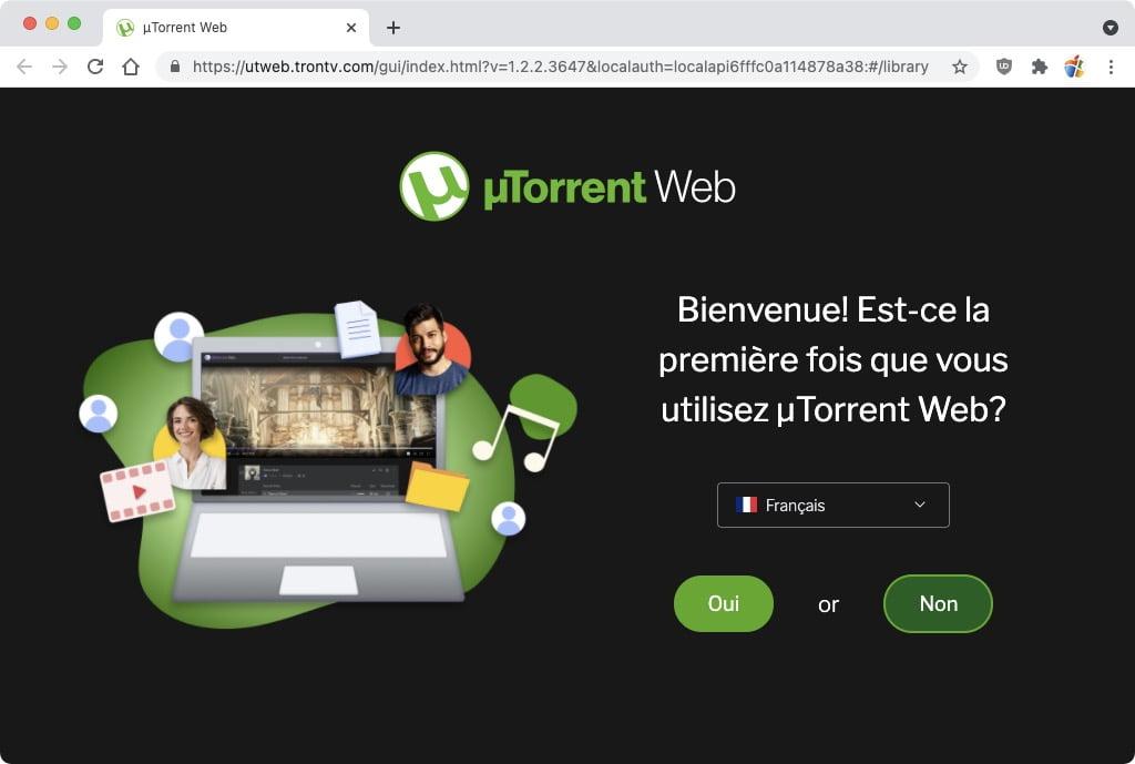 utorrent web en francais