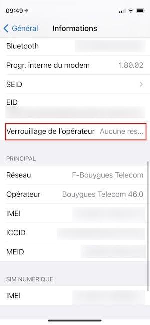 iphone verrouillage de l operateur comment savoir